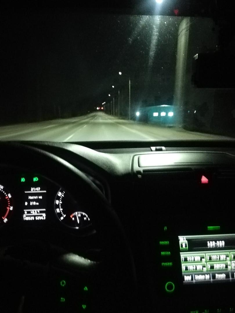 Брянца восхитило освещение дороги