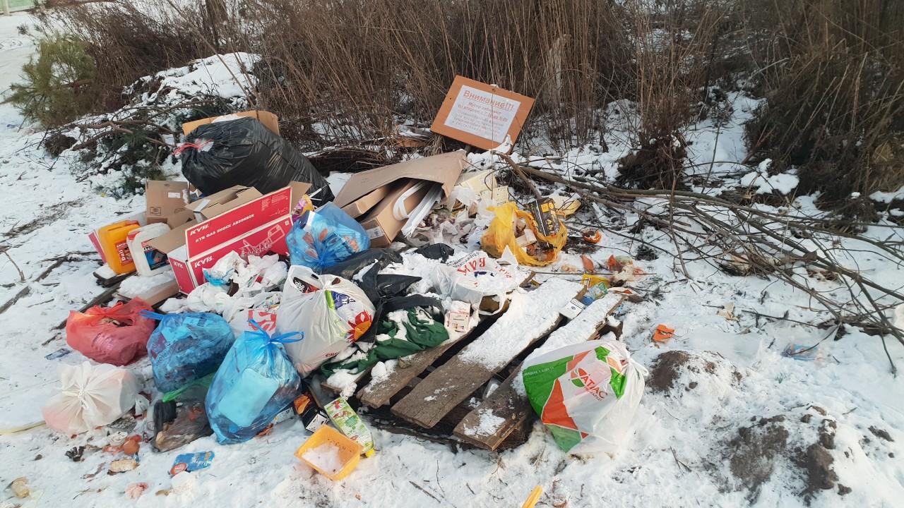 Жители Супонево развели помойку возле домов