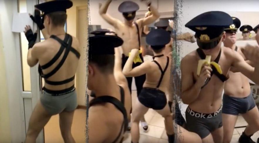 Скандал: будущие летчики сняли брюки исняли клип