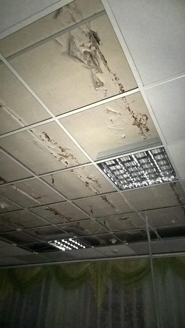В детском саду Брянска протекла крыша