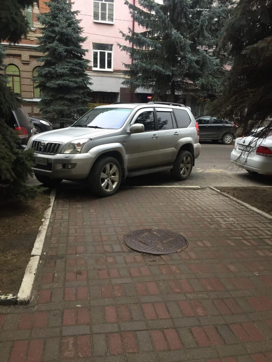 В Брянске автохам перекрыл проход к детской школе искусств