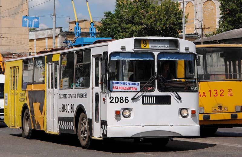 В Брянске троллейбус №9 поедет по-новому