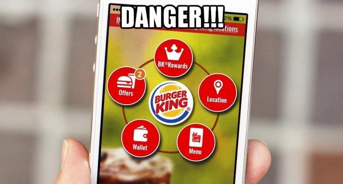 Приложение Burger King следит за вами через телефон