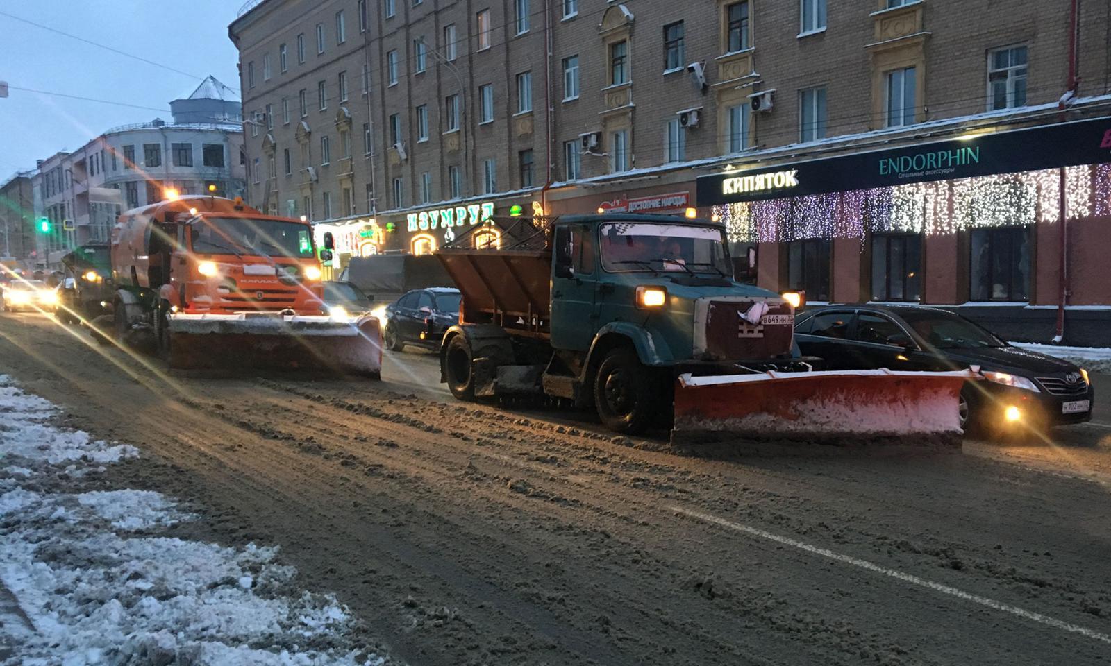 630 тонн снега вывезли с брянских улиц